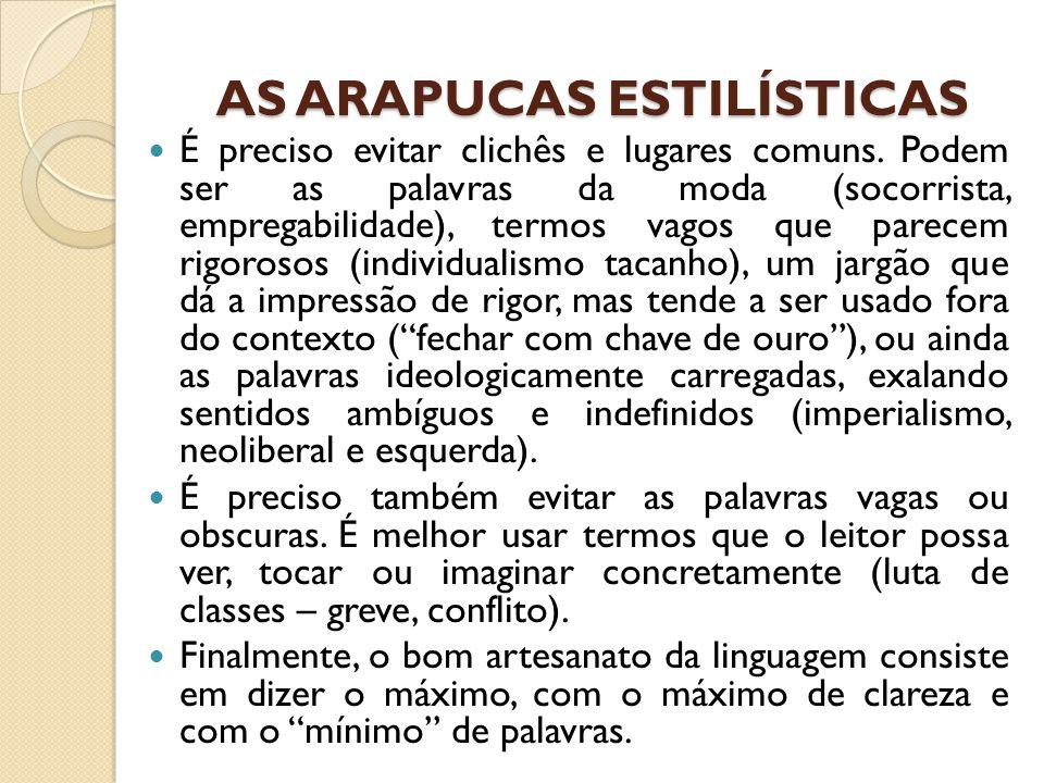 AS ARAPUCAS ESTILÍSTICAS