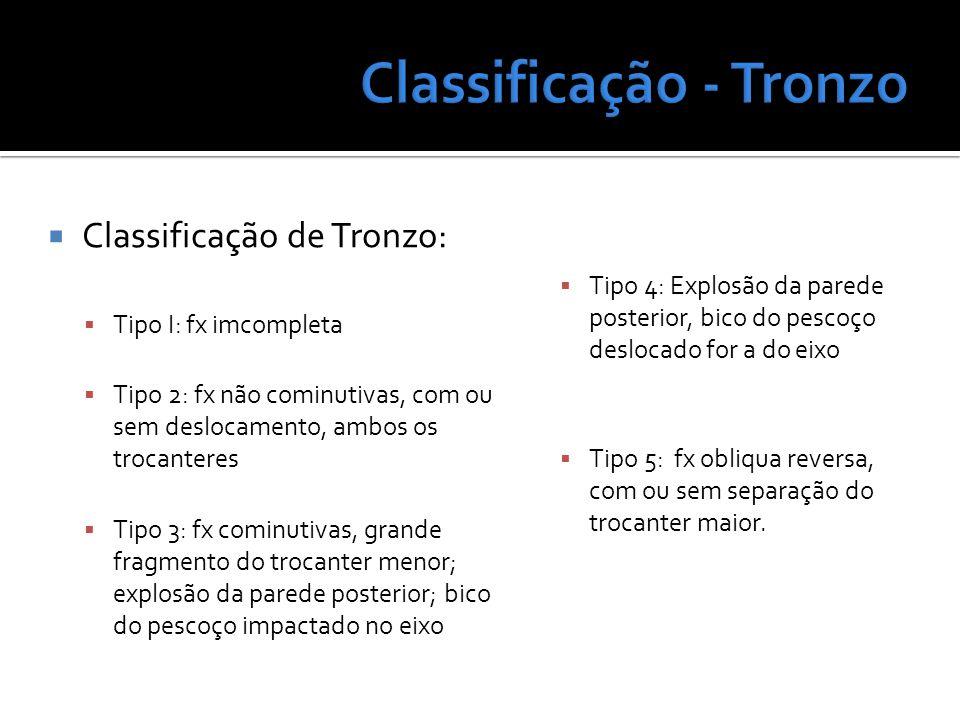 Classificação - Tronzo