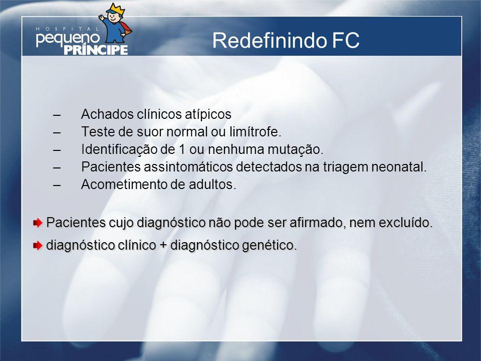 Redefinindo FC Achados clínicos atípicos