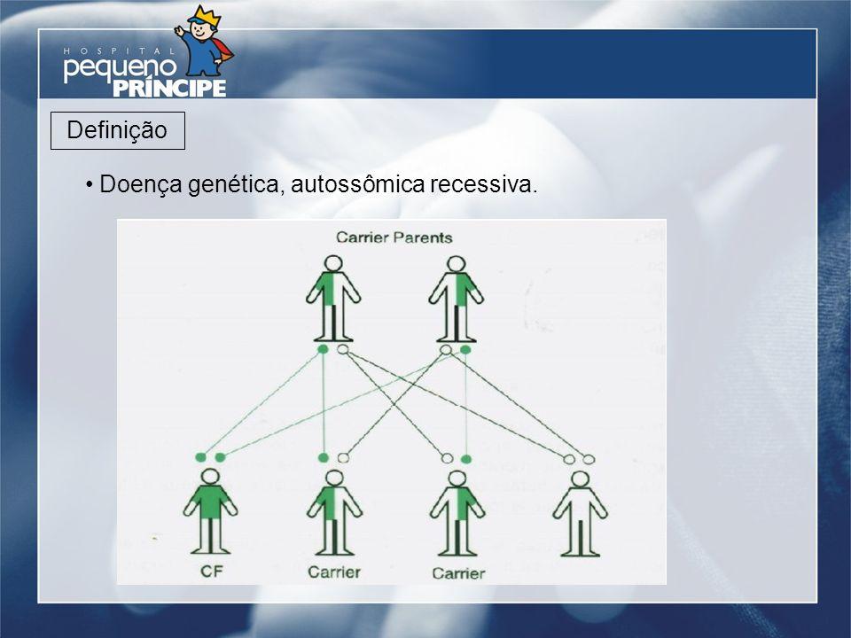 Doença genética, autossômica recessiva.