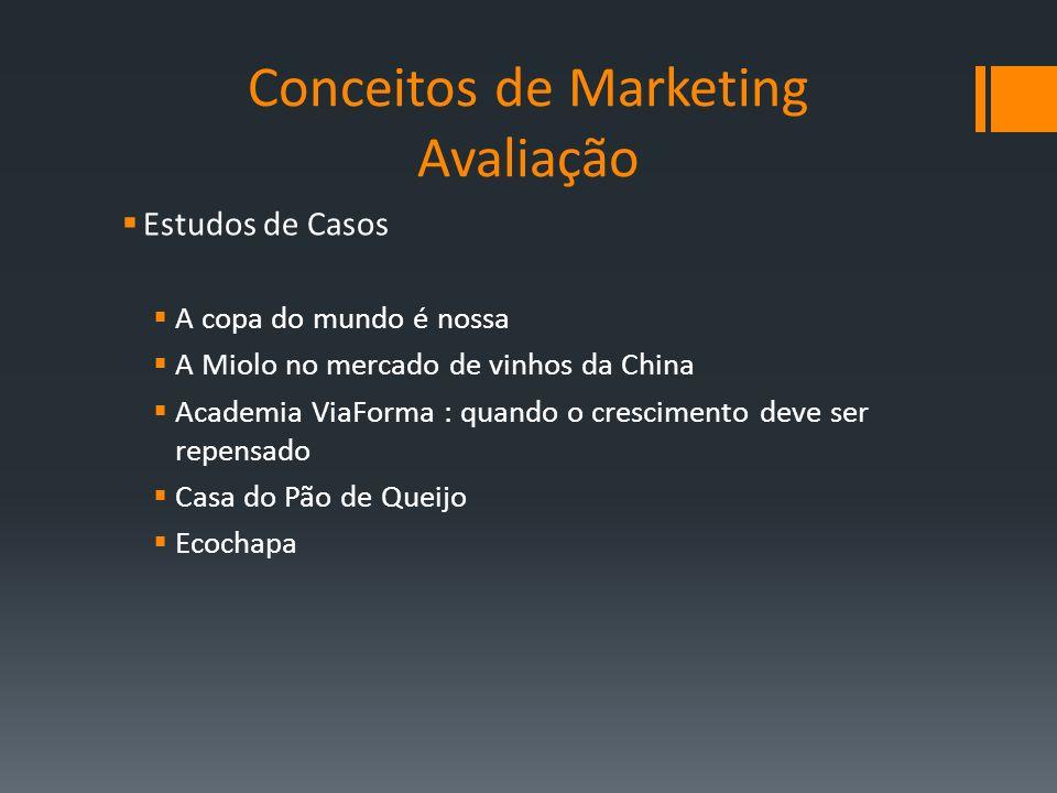 Conceitos de Marketing Avaliação