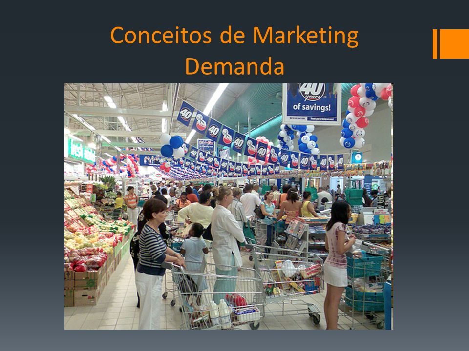 Conceitos de Marketing Demanda