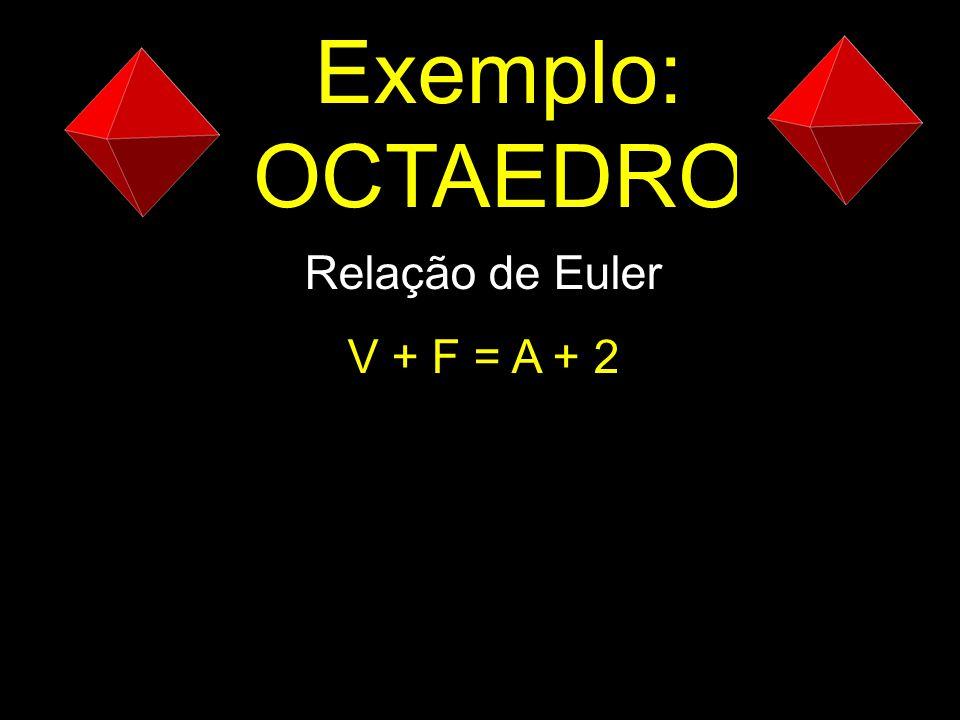 Exemplo: OCTAEDRO Relação de Euler V + F = A + 2
