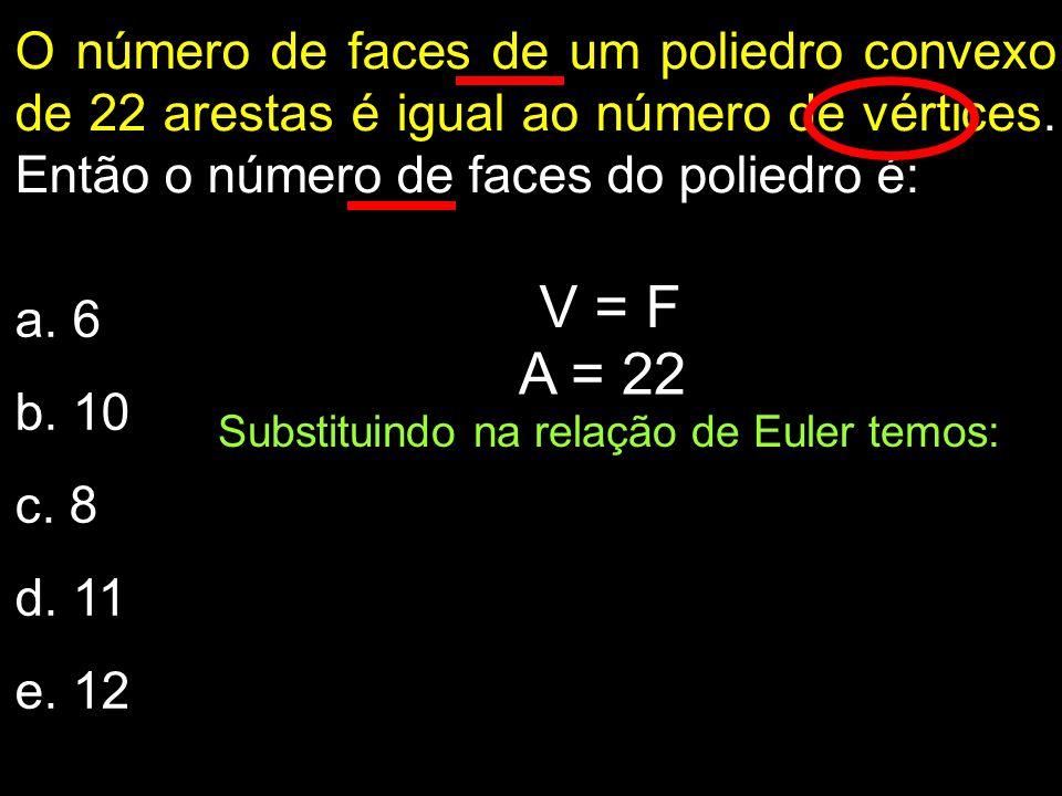 Substituindo na relação de Euler temos: