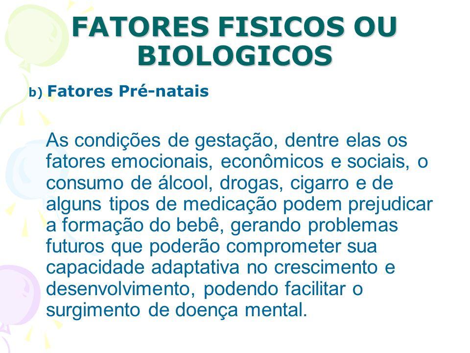 FATORES FISICOS OU BIOLOGICOS