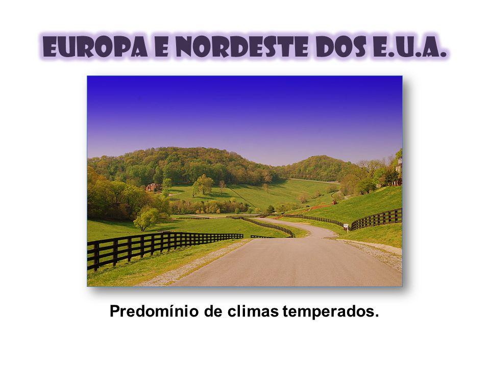 Europa e nordeste dos e.u.a.