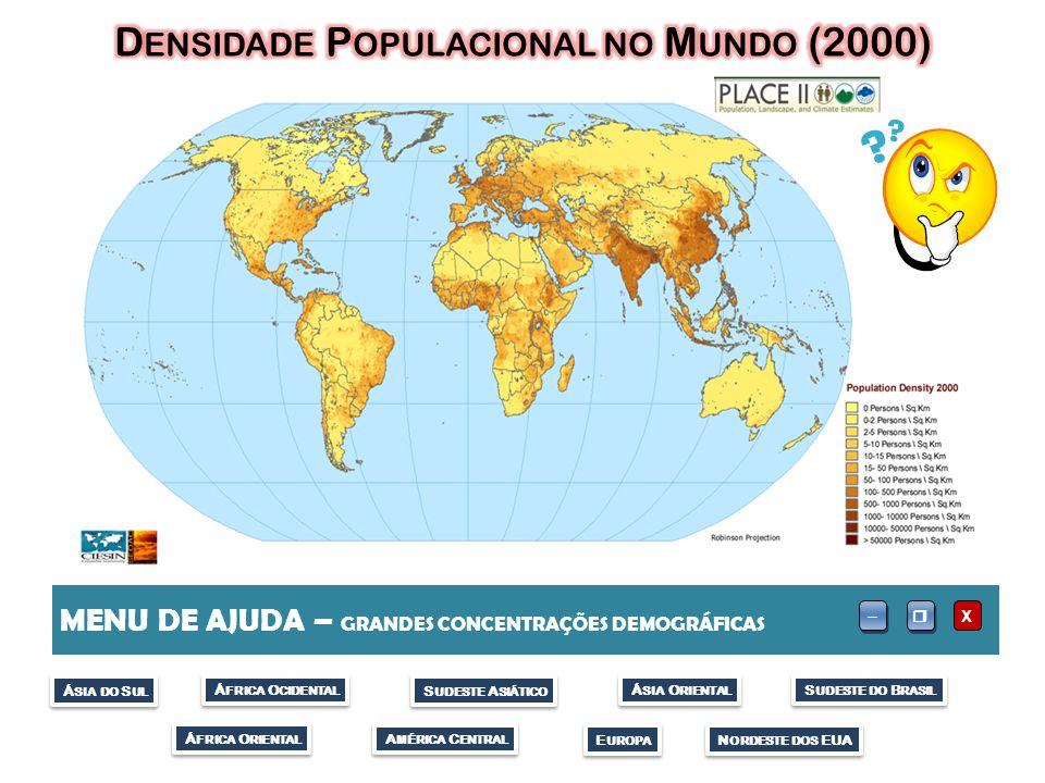 Densidade Populacional no Mundo (2000)