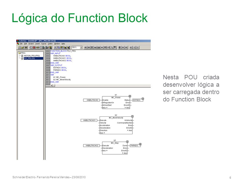 Lógica do Function Block