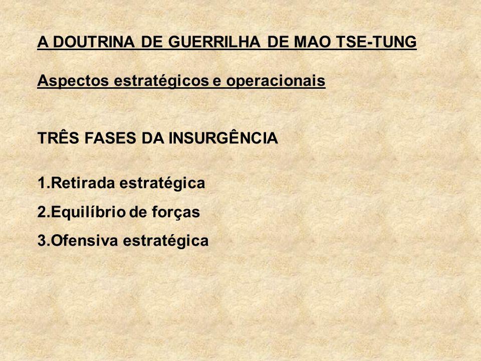A DOUTRINA DE GUERRILHA DE MAO TSE-TUNG