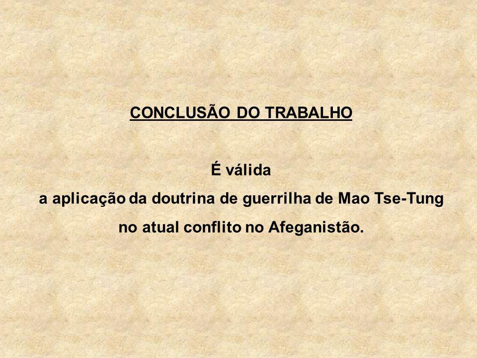 CONCLUSÃO DO TRABALHO É válida.