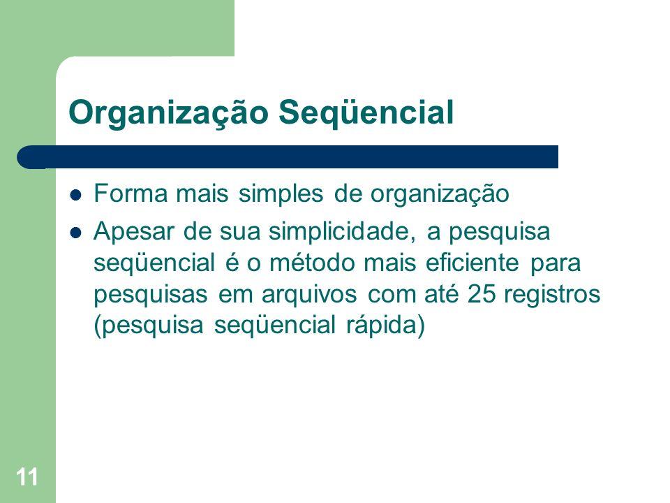 Organização Seqüencial