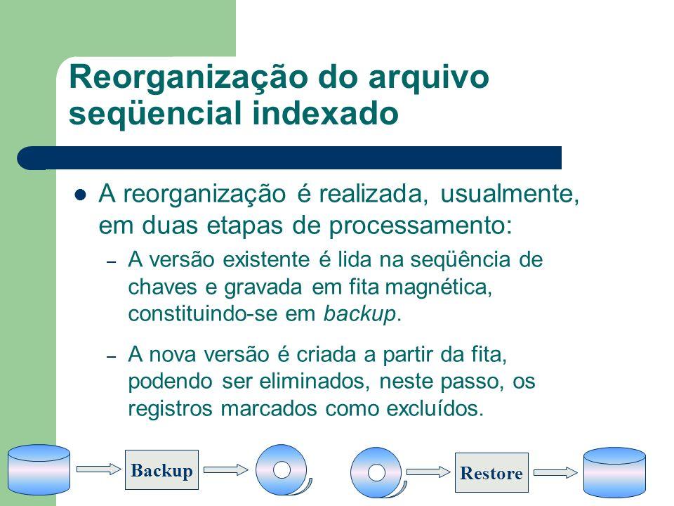 Reorganização do arquivo seqüencial indexado