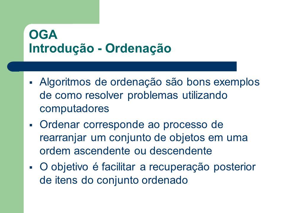 OGA Introdução - Ordenação