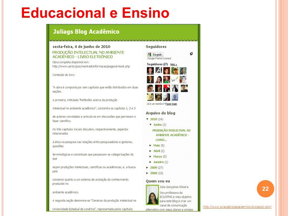 Educacional e Ensino http://www.juliagsblogacademico.blogspot.com/