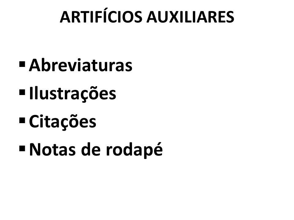 ARTIFÍCIOS AUXILIARES