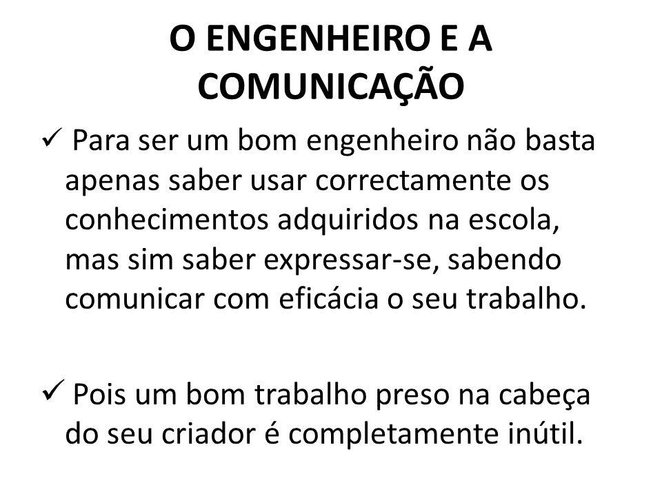 O ENGENHEIRO E A COMUNICAÇÃO