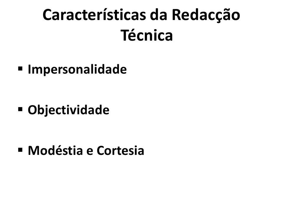 Características da Redacção Técnica