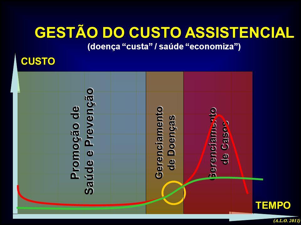 GESTÃO DO CUSTO ASSISTENCIAL (doença custa / saúde economiza )