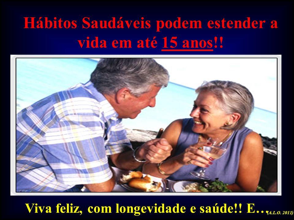 Hábitos Saudáveis podem estender a vida em até 15 anos!!