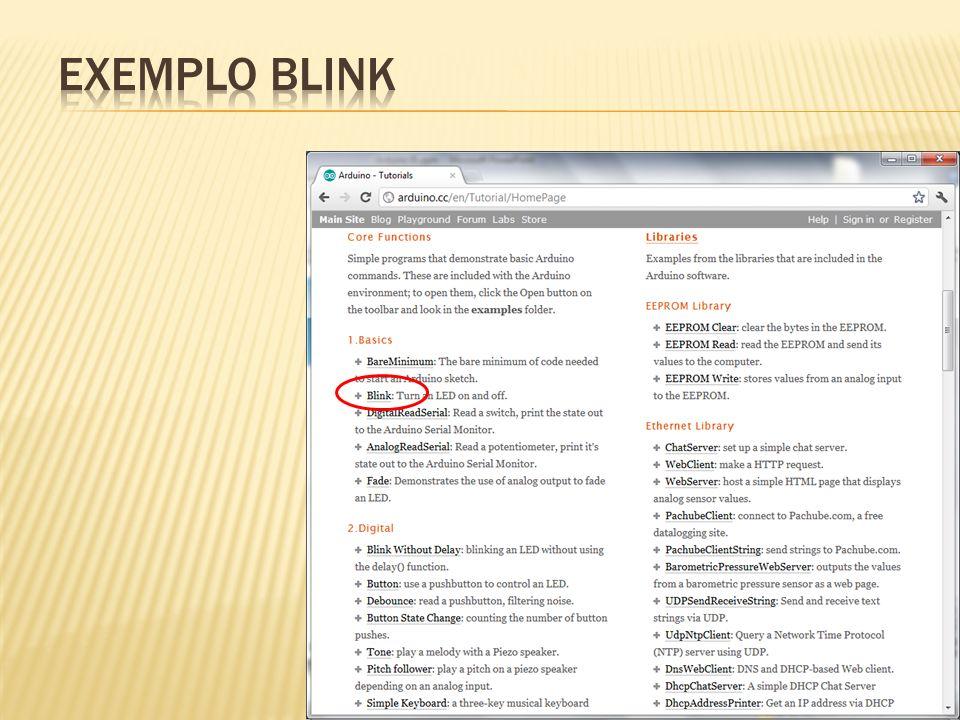 EXEMPLO BLINK