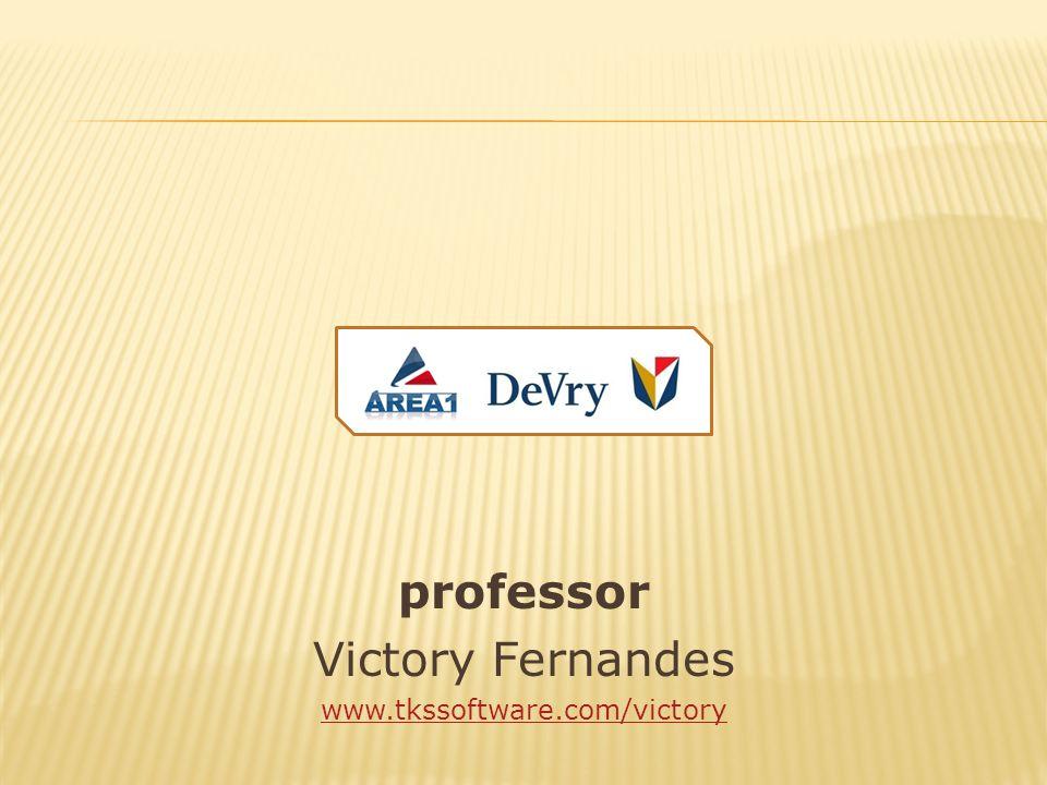 professor Victory Fernandes www.tkssoftware.com/victory