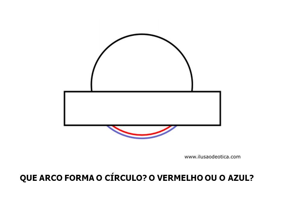 QUE ARCO FORMA O CÍRCULO O VERMELHO OU O AZUL