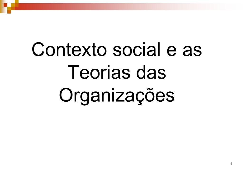 Contexto social e as Teorias das Organizações