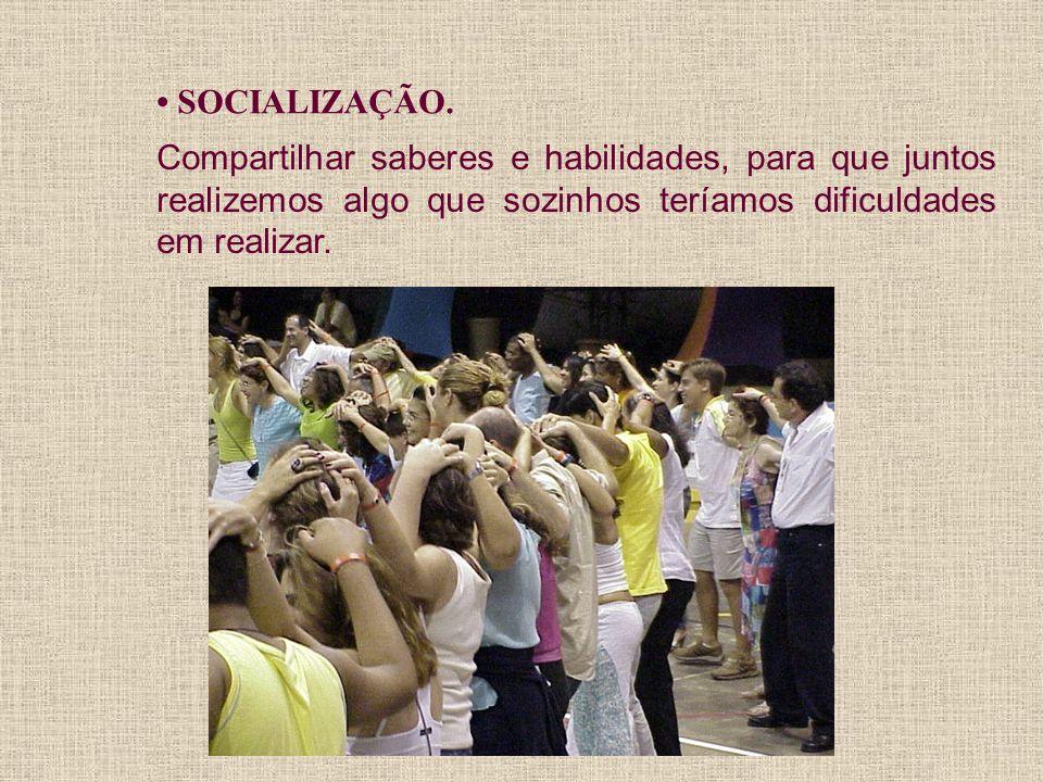 • SOCIALIZAÇÃO.