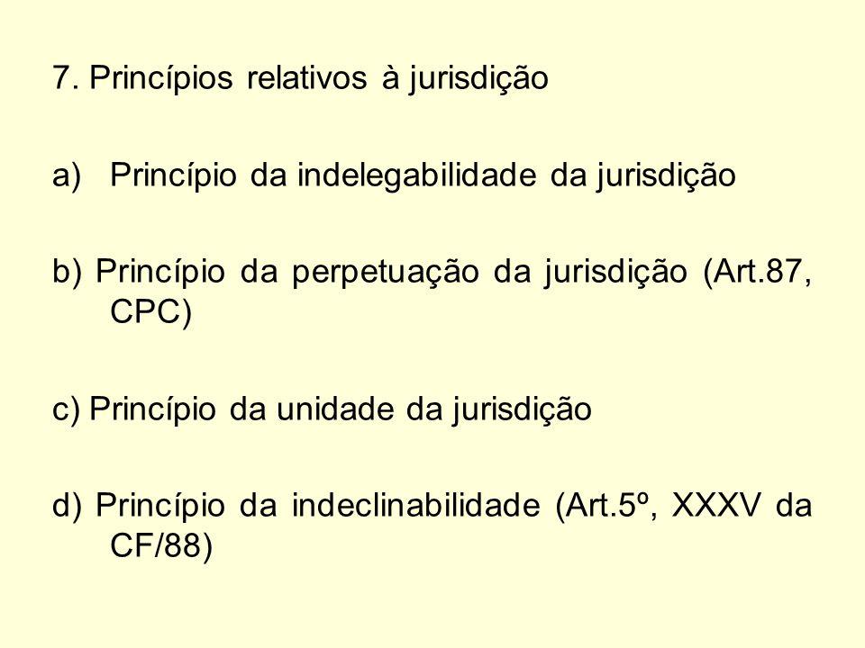 7. Princípios relativos à jurisdição