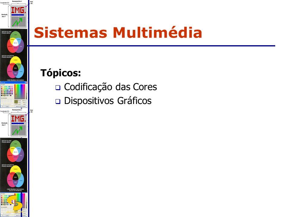 Sistemas Multimédia Tópicos: Codificação das Cores