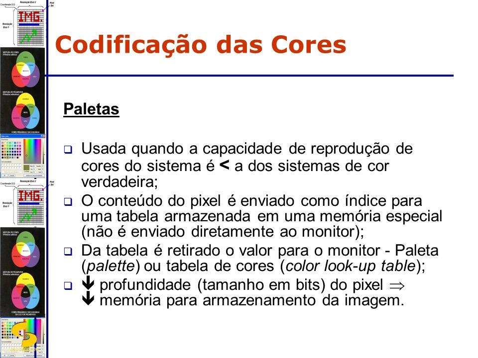 Codificação das Cores Paletas