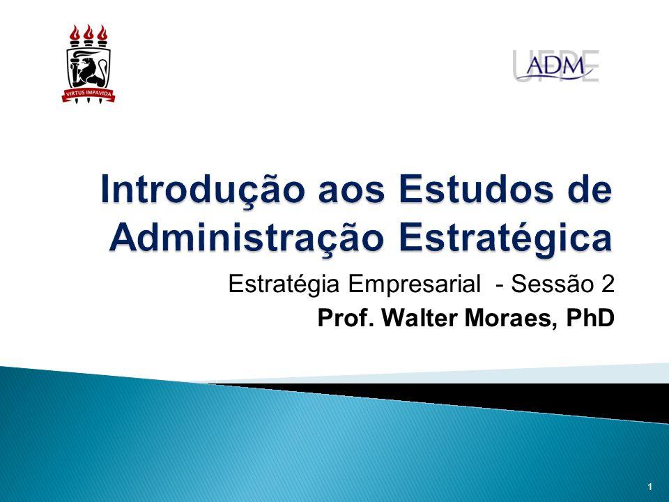 Introdução aos Estudos de Administração Estratégica