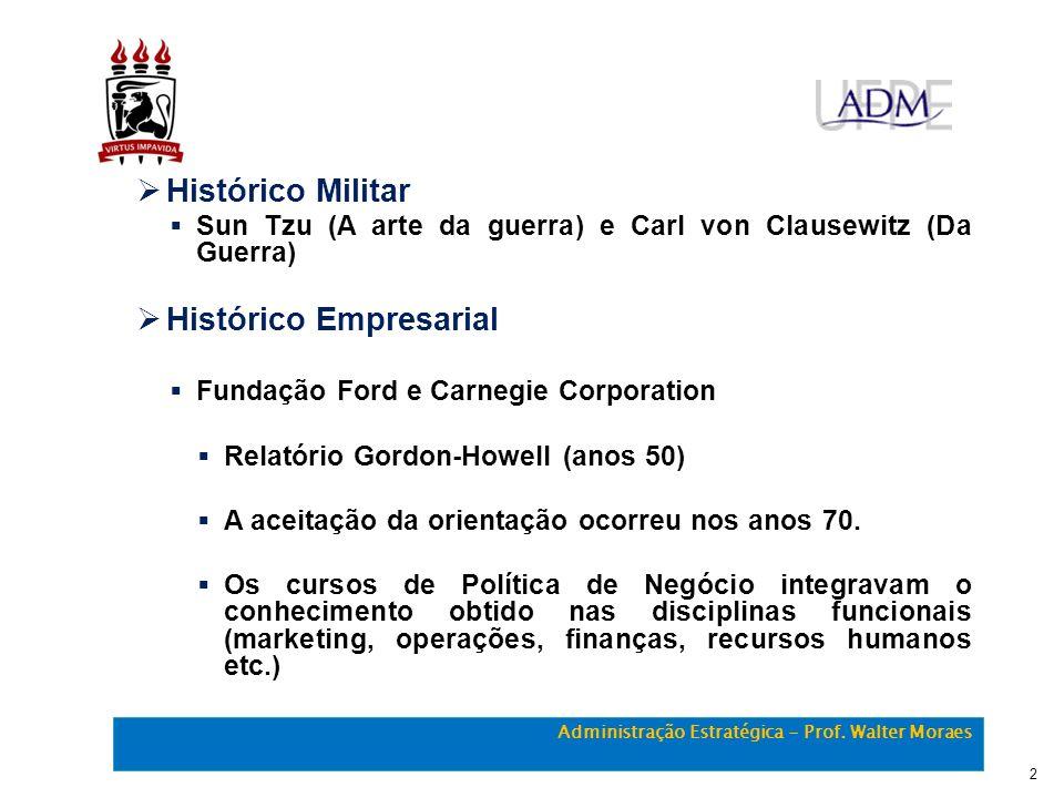 Administração Estratégica - Prof. Walter Moraes