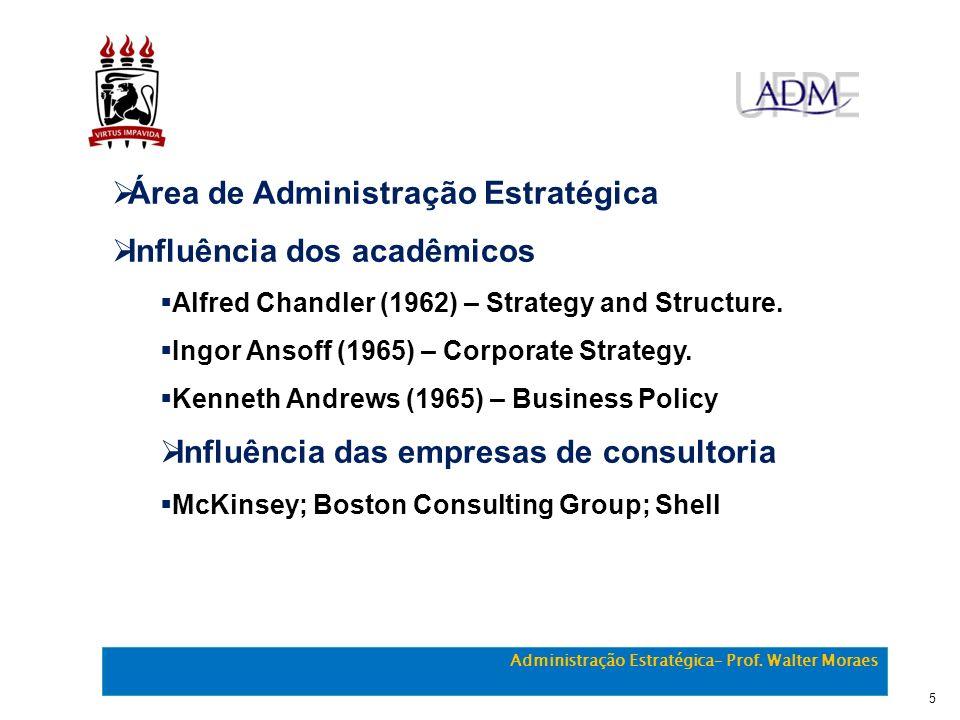 Área de Administração Estratégica Influência dos acadêmicos
