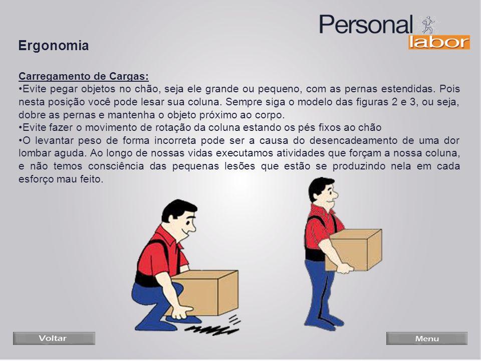 Ergonomia Carregamento de Cargas: