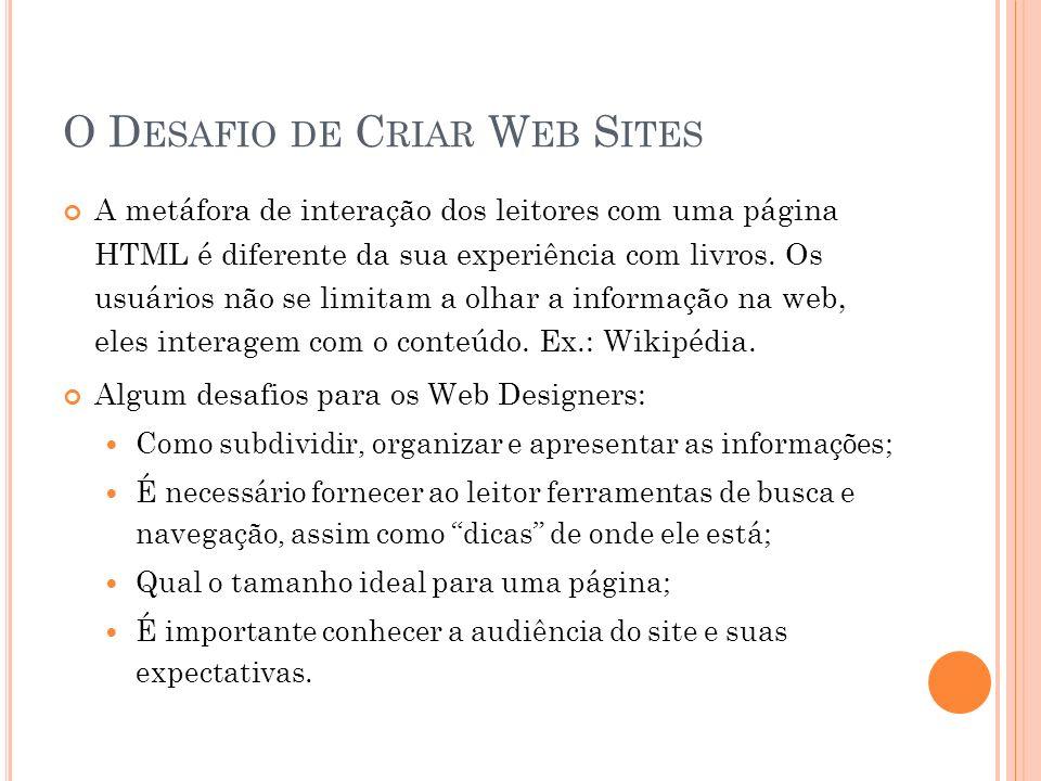 O Desafio de Criar Web Sites