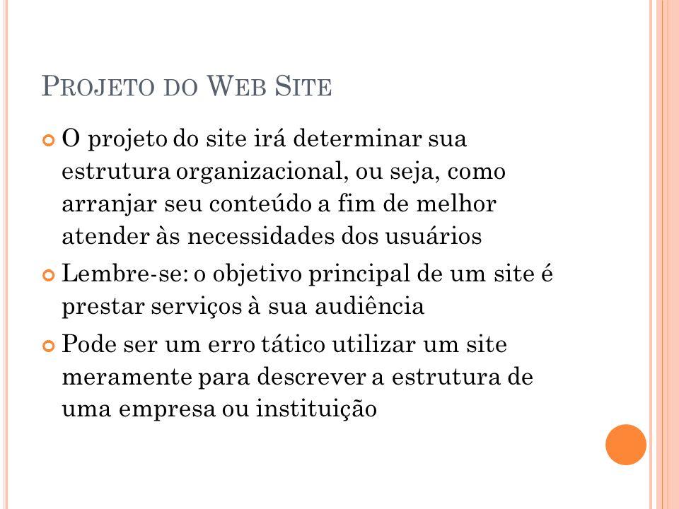 Projeto do Web Site