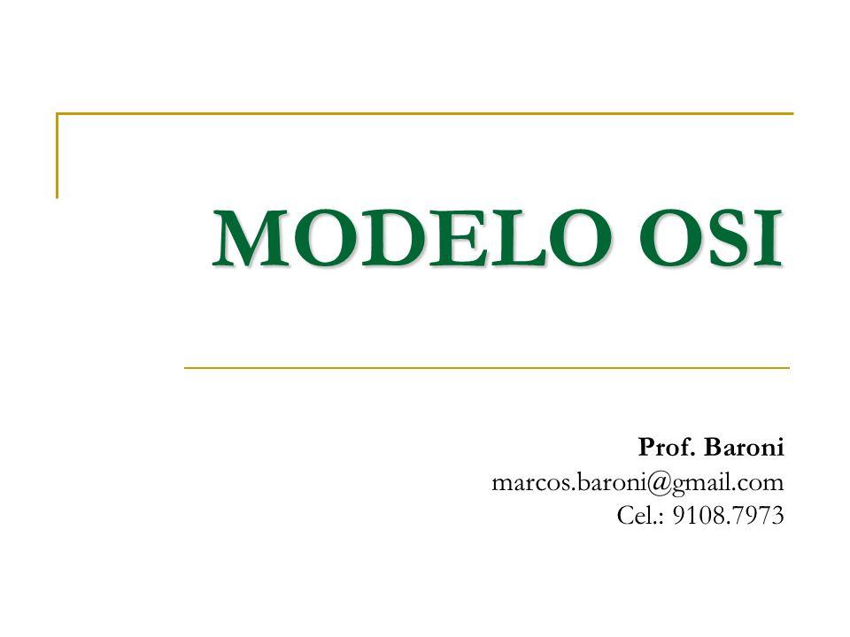 MODELO OSI Prof. Baroni marcos.baroni@gmail.com Cel.: 9108.7973