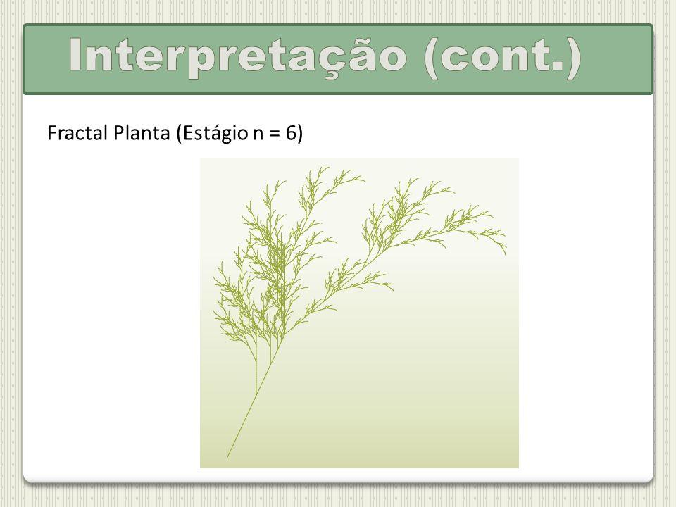 Interpretação (cont.) Fractal Planta (Estágio n = 6)