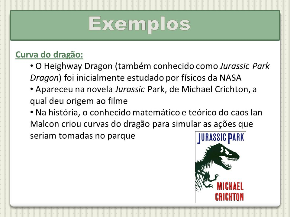 Exemplos Curva do dragão: