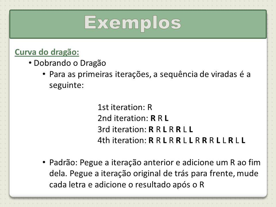 Exemplos Curva do dragão: Dobrando o Dragão