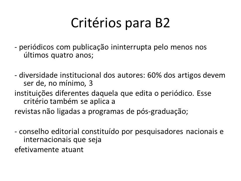Critérios para B2