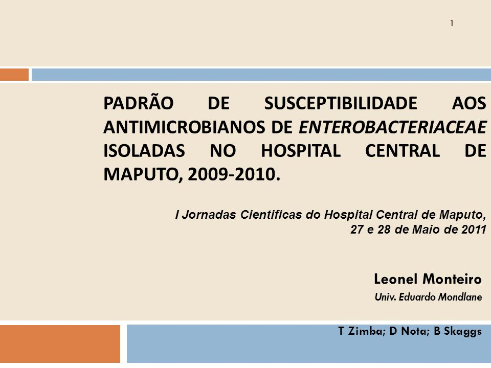Leonel Monteiro Univ. Eduardo Mondlane T Zimba; D Nota; B Skaggs