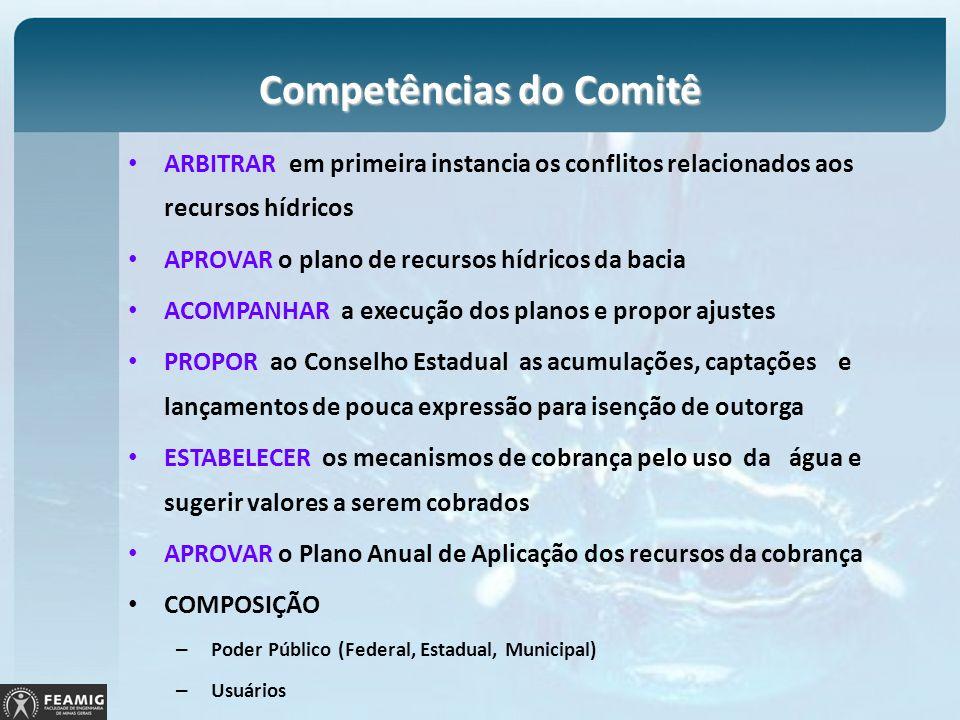 Competências do Comitê