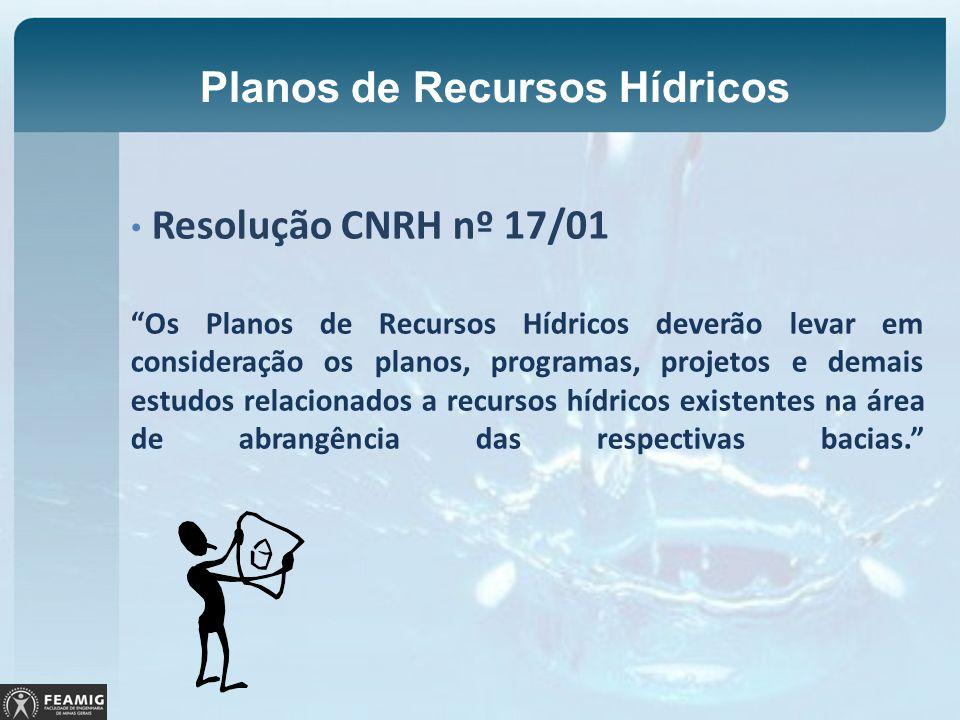 Planos de Recursos Hídricos