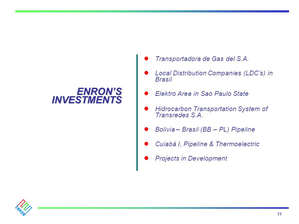 ENRON'S INVESTMENTS Transportadora de Gas del S.A.