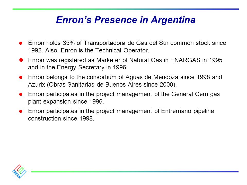 Enron's Presence in Argentina