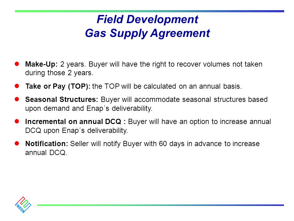 Field Development Gas Supply Agreement