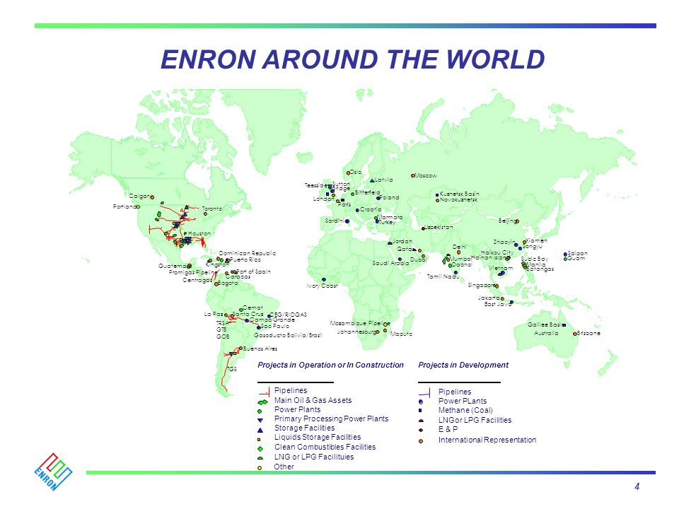 ENRON AROUND THE WORLD 4 Projects in Operation or In Construction