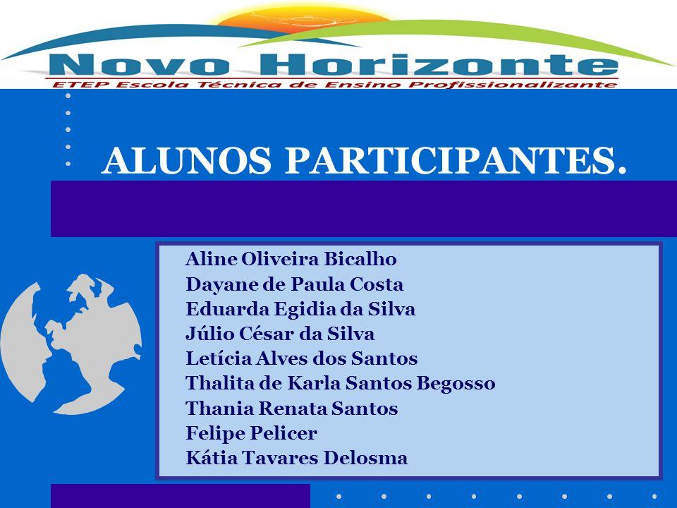 ALUNOS PARTICIPANTES. Aline Oliveira Bicalho Dayane de Paula Costa